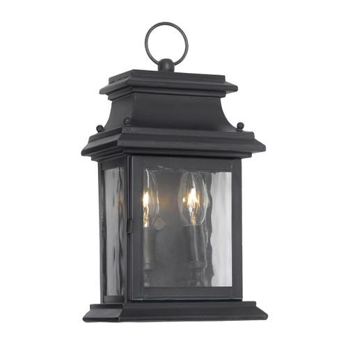 ELK Lighting 5726-C Provincial 2-Light Outdoor Wall Lantern in Charcoal