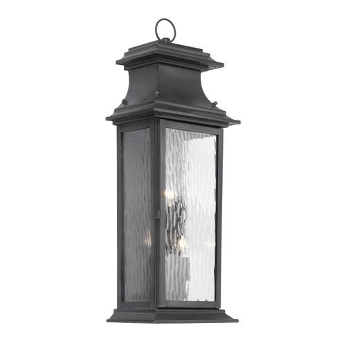 ELK Lighting 5727-C Provincial 3-Light Outdoor Wall Lantern in Charcoal