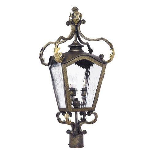 ELK Lighting 5783-CB Acadiana 4-Light Outdoor Post Mount in Castle Bronze