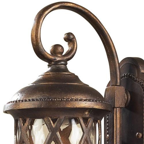 ELK Lighting 42030/1 Barrington Gate 1-Light Outdoor Wall Lamp in Hazelnut Bronze