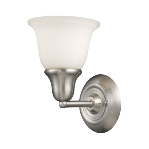 ELK Lighting 67020-1 Berwick 1-Light Vanity Lamp in Brushed Nickel with White Glass