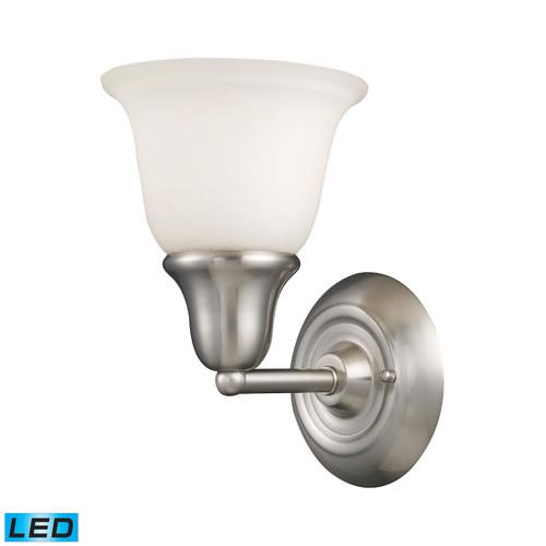 ELK Lighting 67020-1-LED Berwick 1-Light Vanity Lamp in Brushed Nickel with White Glass - Includes LED Bulb