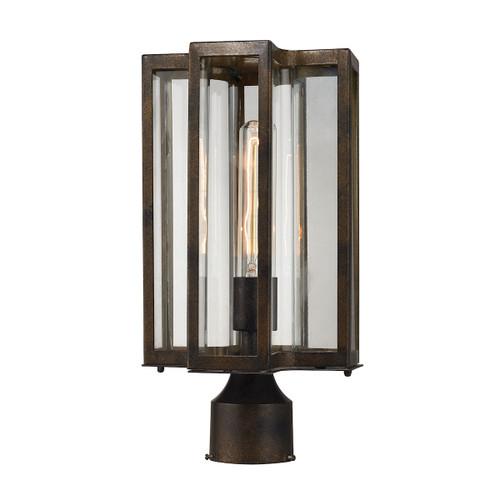 ELK Lighting 45148/1 Bianca 1-Light Outdoor Post Mount in Hazelnut Bronze
