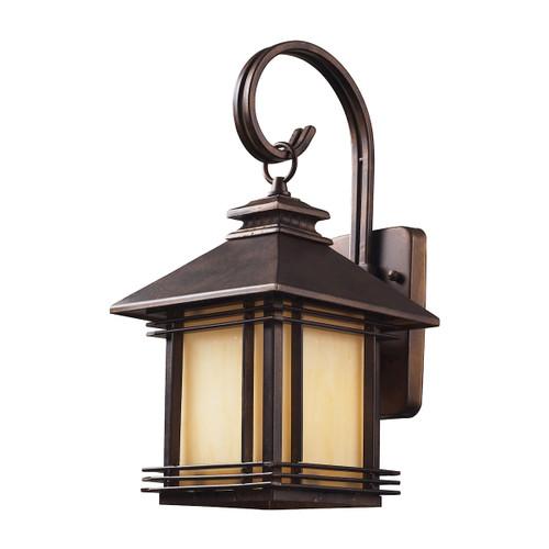 ELK Lighting 42100/1 Blackwell 1-Light Outdoor Wall Lantern in Hazelnut Bronze