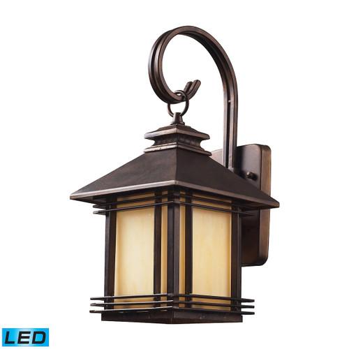 ELK Lighting 42100/1-LED Blackwell 1-Light Outdoor Wall Lantern in Hazelnut Bronze - Includes LED Bulb