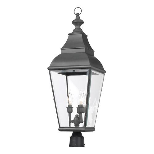 ELK Lighting 5217-C Bristol 3-Light Outdoor Post Mount in Charcoal