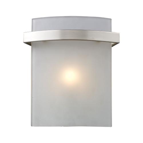 ELK Lighting 11280/1 Briston 1-Light Vanity Sconce in Satin Nickel with Diffuser