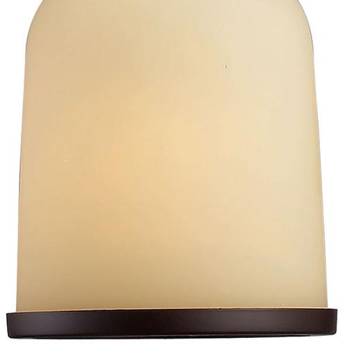 ELK Lighting 66171-1 Brooksdale 1-Light Mini Pendant in Oiled Bronze with Amber Glass