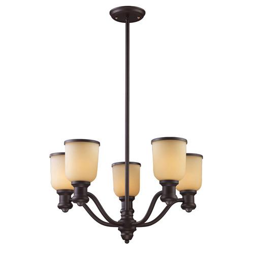 ELK Lighting 66173-5 Brooksdale 5 Light Chandelier in Oiled Bronze