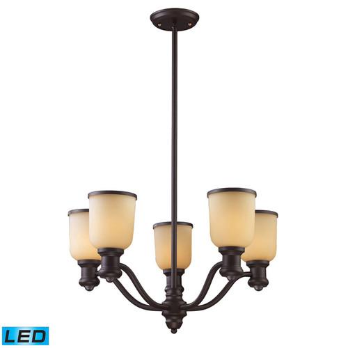 ELK Lighting 66173-5-LED Brooksdale 5 Light Chandelier inOiled Bronze (LED)
