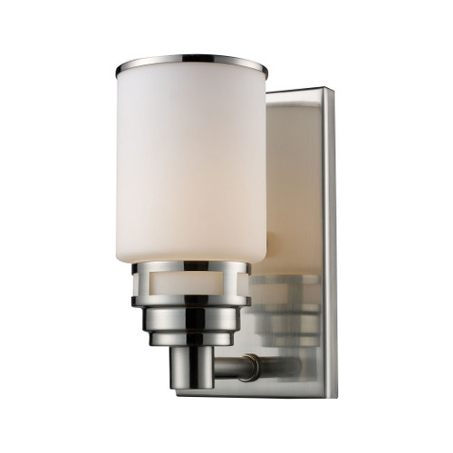 ELK Lighting 11264/1 Bryant 1-Light Vanity Lamp in Satin Nickel with Opal White Glass