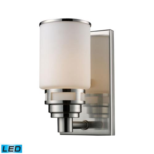 ELK Lighting 11264/1-LED Bryant 1-Light Vanity Lamp in Satin Nickel with Opal White Glass - Includes LED Bulb