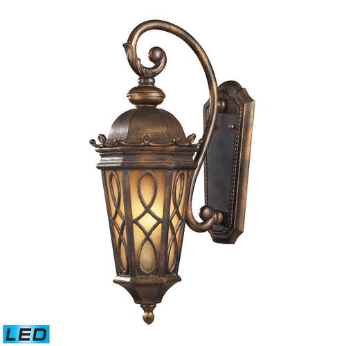 ELK Lighting 42001/2-LED Burlington Junction 2-Light Outdoor Wall Lamp in Hazelnut Bronze - Includes LED Bulbs