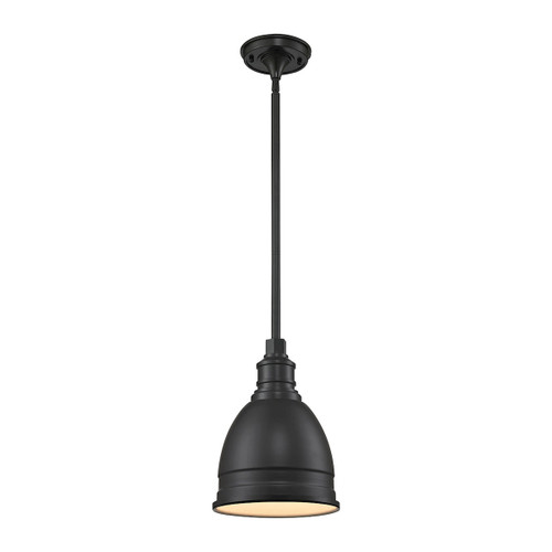 ELK Lighting 66860/1 Carolton 1-Light Mini Pendant in Oil Rubbed Bronze with Matching Shade