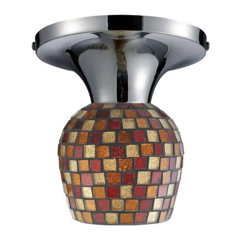 ELK Lighting 10152/1PC-MLT Celina 1-Light Semi Flush in Chrome with Mosaic Glass