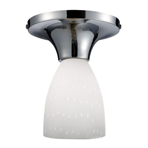 ELK Lighting 10152/1PC-WH Celina 1-Light Semi Flush in Chrome with Simple White Glass
