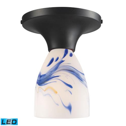 ELK Lighting 10152/1DR-MT-LED Celina 1-Light Semi Flush in Dark Rust with Mountain Glass - Includes LED Bulb
