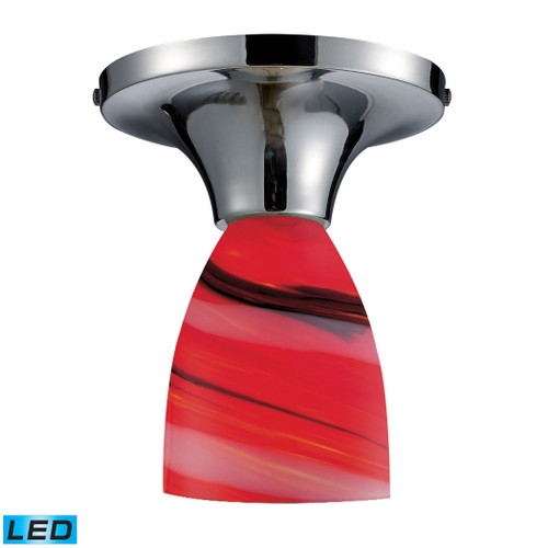 ELK Lighting 10152/1PC-CY-LED Celina 1-Light Semi Flush in Chrome with Candy Glass - Includes LED Bulb