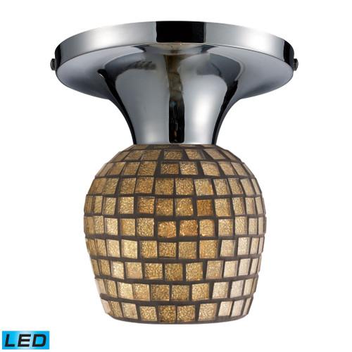 ELK Lighting 10152/1PC-GLD-LED Celina 1-Light Semi Flush in Chrome with Gold Mosaic Glass - Includes LED Bulb