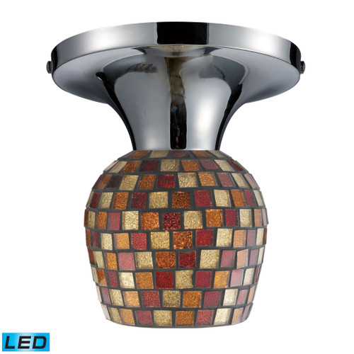 ELK Lighting 10152/1PC-MLT-LED Celina 1-Light Semi Flush in Chrome with Mosaic Glass - Includes LED Bulb