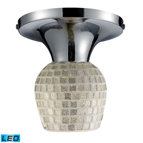 ELK Lighting 10152/1PC-SLV-LED Celina 1-Light Semi Flush in Chrome with Silver Glass - Includes LED Bulb