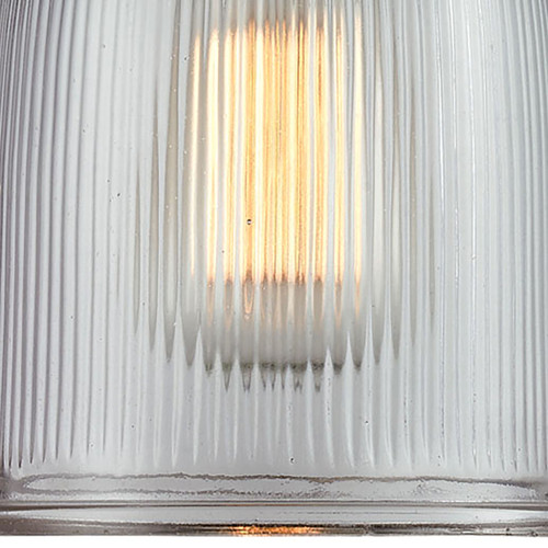 ELK Lighting 66761-1 Chadwick 1-Light Mini Pendant in Oiled Bronze with Clear Ribbed Glass