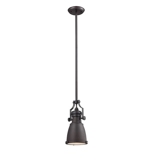ELK Lighting 66139-1 Chadwick 1-Light Mini Pendant in Oiled Bronze with Matching Shade