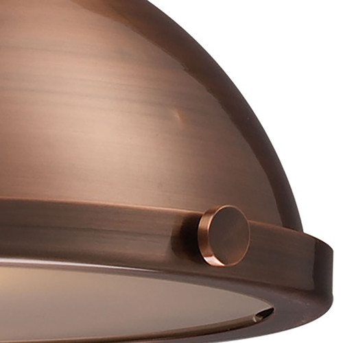 ELK Lighting 66144-1 Chadwick 1-Light Pendant in Antique Copper with Matching Shade
