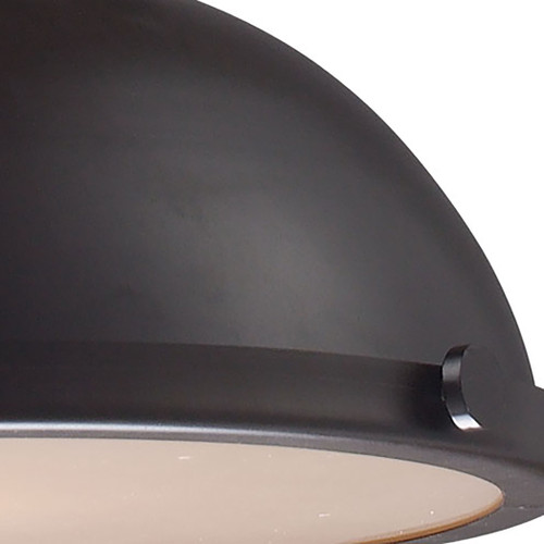 ELK Lighting 66134-1 Chadwick 1-Light Pendant in Oiled Bronze with Matching Shade