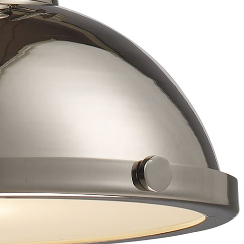 ELK Lighting 66114-1 Chadwick 1-Light Pendant in Polished Nickel with Matching Shade