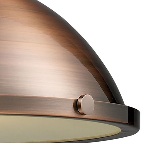 ELK Lighting 66148-1 Chadwick 1-Light Pendant in Antique Copper with Matching Shade