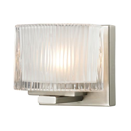 ELK Lighting 11630/1 Chiseled Glass 1-Light Vanity Sconce in Brushed Nickel