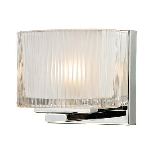 ELK Lighting 11620/1 Chiseled Glass 1-Light Vanity Sconce in Polished Chrome