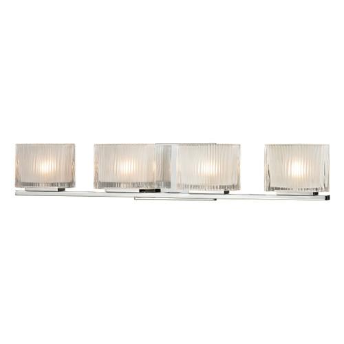 ELK Lighting 11623/4 Chiseled Glass 4-Light Vanity Sconce in Polished Chrome