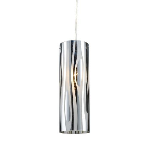 ELK Lighting 31078/1 Chromia 1-Light Mini Pendant in Polished Chrome with Cylinder Shade