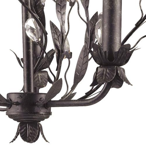 ELK Lighting 8058/3 Circeo 3-Light Chandelier in Deep Rust with Crystal