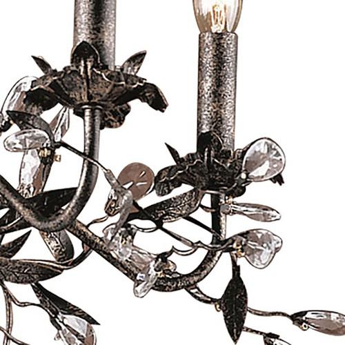 ELK Lighting 8053/5 Circeo 5-Light Chandelier in Deep Rust with Crystal