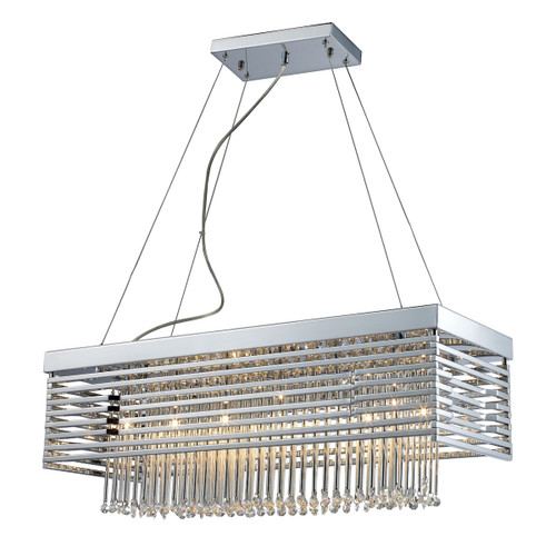 ELK Lighting 30020/12 Cortina 12-Light Chandelier in Polished Chrome with Crystal