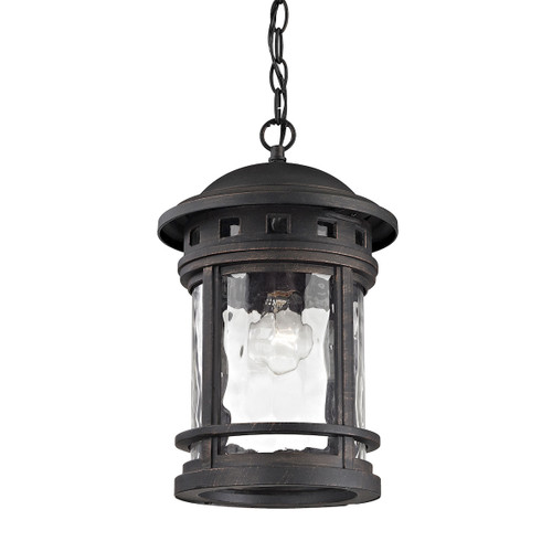 ELK Lighting 45113/1 Costa Mesa 1-Light Outdoor Hanging Lantern in Weathered Charcoal