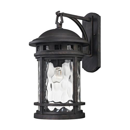 ELK Lighting 45112/1 Costa Mesa 1-Light Outdoor Wall Lantern in Weathered Charcoal
