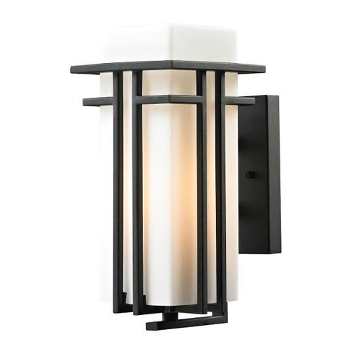 ELK Lighting 45085/1 Croftwell 1-Light Outdoor Wall Lamp in Textured Matte Black