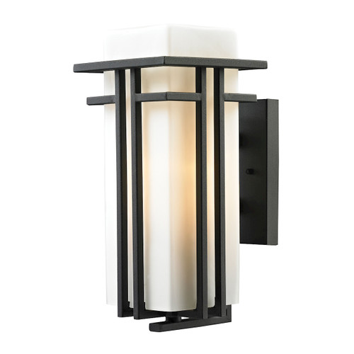ELK Lighting 45086/1 Croftwell 1-Light Outdoor Wall Lamp in Textured Matte Black