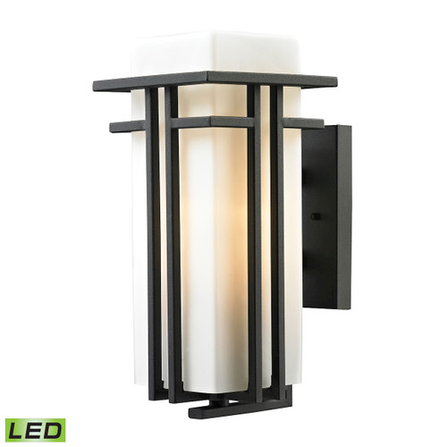 ELK Lighting 45086/1-LED Croftwell 1-Light Outdoor Wall Lamp in Textured Matte Black - Includes LED Bulb