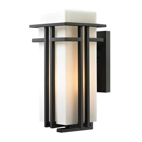 ELK Lighting 45087/1 Croftwell 1-Light Outdoor Wall Lamp in Textured Matte Black