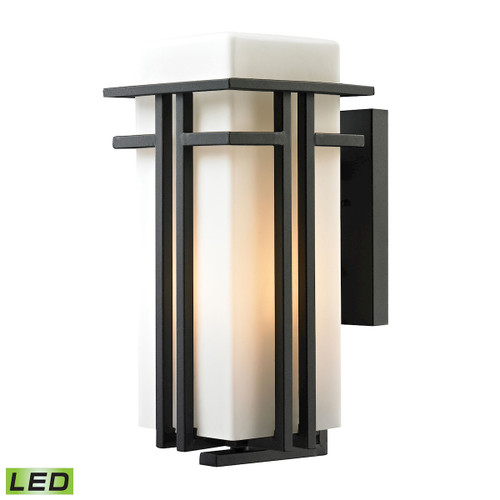 ELK Lighting 45087/1-LED Croftwell 1-Light Outdoor Wall Lamp in Textured Matte Black - Includes LED Bulb