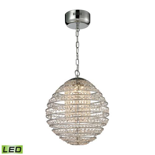 ELK Lighting 11731-LED Crystal Sphere Light Pendant in Polished Chrome