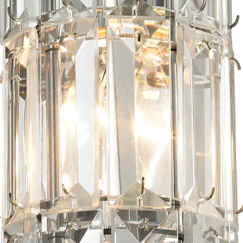 ELK Lighting 31486/1 Cynthia 1-Light Mini Pendant in Polished Chrome with Crystal