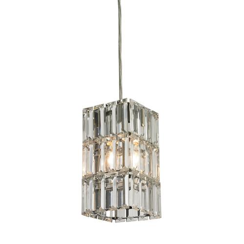 ELK Lighting 31488/1 Cynthia 1-Light Mini Pendant in Polished Chrome with Crystal