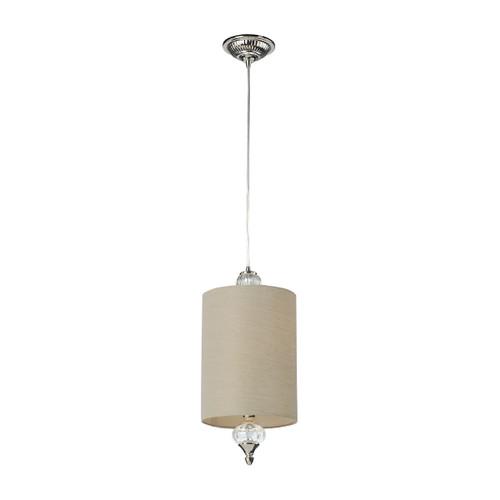 ELK Lighting 31302/1 Dalton 1-Light Mini Pendant in Polished Nickel with White Glass