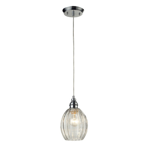 ELK Lighting 46017/1 Danica 1-Light Mini Pendant in Polished Chrome with Clear Glass